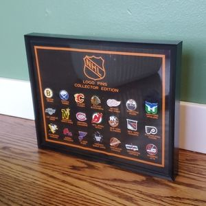 NHL Collector's Pin Set Framed